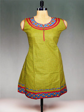 Online shopping green printed cotton tops unnati silks