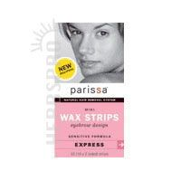 Parissa Wax Strips Mini Eyebrow, 32(16X2 sided)ct