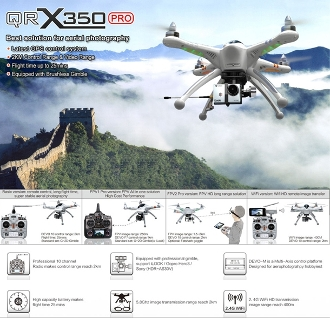 Walkera GPS FPV QRX350PRO With DEVO10(WIFI Version)