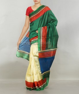 Online shopping for bhagalpuri soft silk saris by unnatisilks