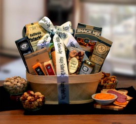 Gifts for Dad - Gift Basket Father's Day Gourmet Nut And Sausage Assortment