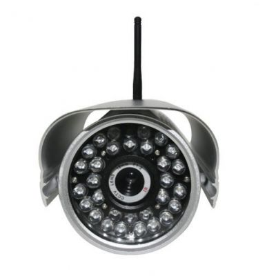 Waterproof Box IP Camera with CCD Sensor/Motion Detection/35m IR Distance/IRC/Free DDNS/Control Alar