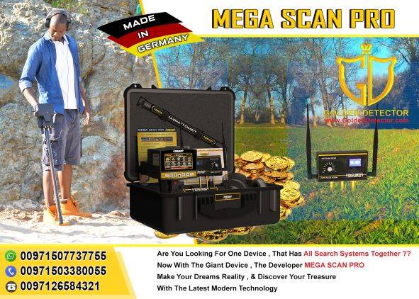 Mega Scan Pro 3 system for gold detector