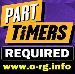 Part Timers Required For Cash In Hand Position.