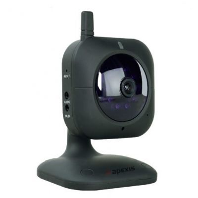 Mini home wireless ip camera APM-H401-WS with H.264 Video Compression Format, Supports Audio Input a