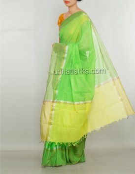 Online shopping for sankranthi special green color saris by unnatisilks