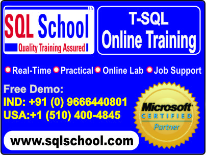 Microsoft SQL Server  Best Project Oriented Online Training