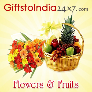 Present  flowers and fruits as gifts on any occasion or festival to India