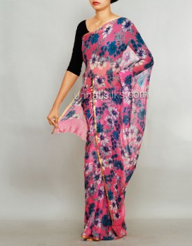 Online shopping for lovely printed saris by unnatisilks