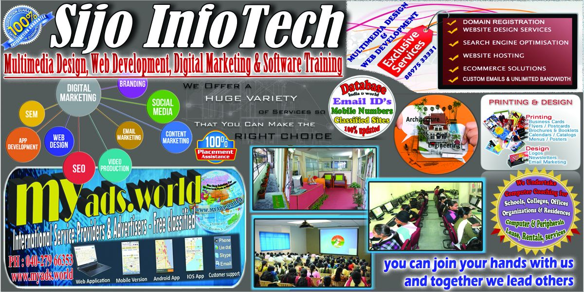 Sijo Infotech - Multimedia Design, Web Development, Digital Marketing & Software Training