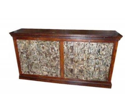 Antique Haveli Old Door Rustic Sideboard Buffet Furniture  $1,538.00