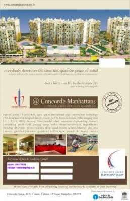 Concorde Manhattans Hi- End Luxury Flats for sale