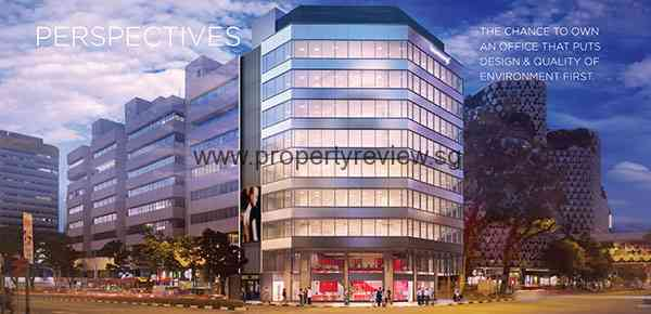 The Prospex is a 9-storey high-level exposure strata office seemingly located at the junction of Vic