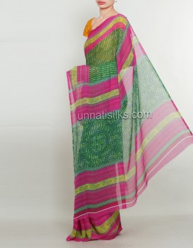 Online shopping for printed saris by unnatisilks