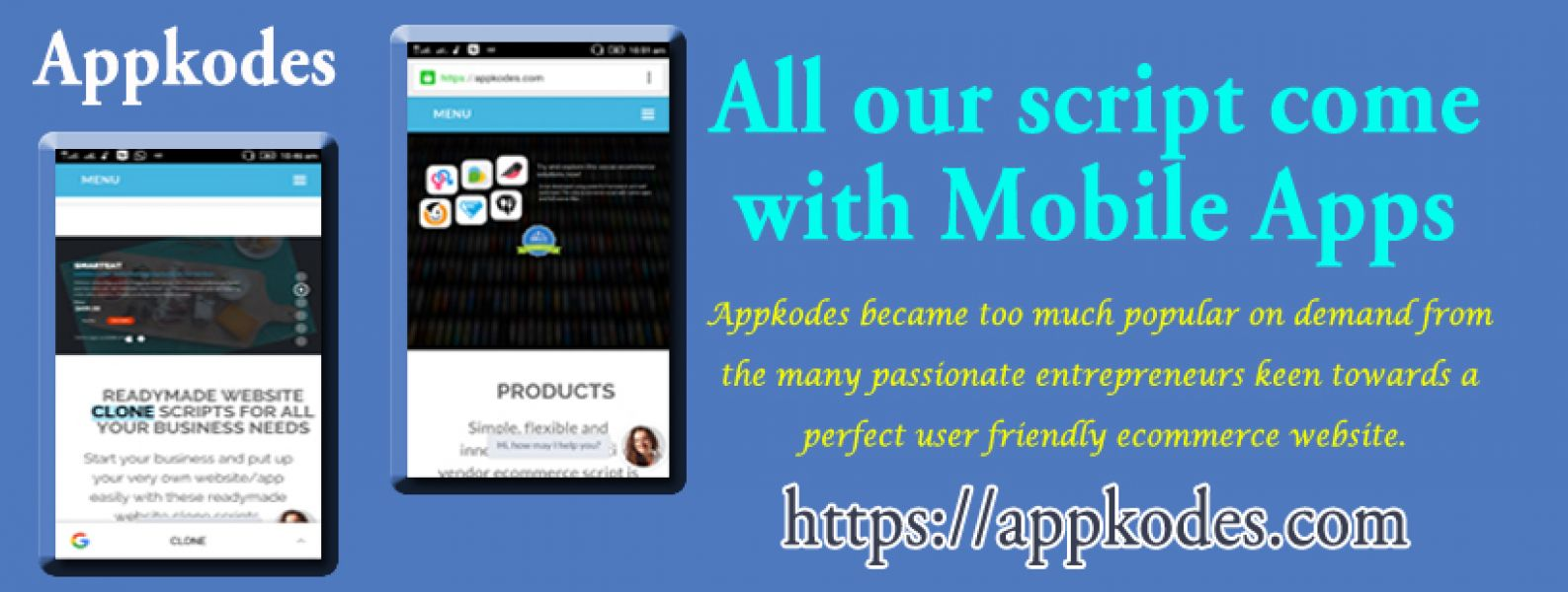 Mobile Websites And Apps , Clone Script Products