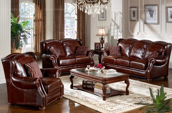Caesar Palace American Style leather Sofa Set