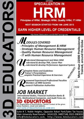 SPECIALIZATION IN Human Resource Management - HRM COURSE TRAINING