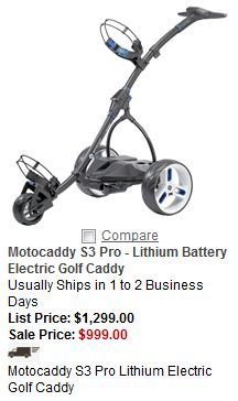Buy electric golf caddy only at Sunrisegolfcarts.com