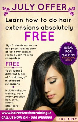 July Offer Learn how to do hair extensions absolutely FREE