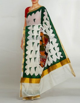 Online shopping for kerala kasavu cotton sarees by unnatisilks