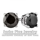 14k White Gold Stud Earrings for Men and Women at Sasha Fine Jewelry