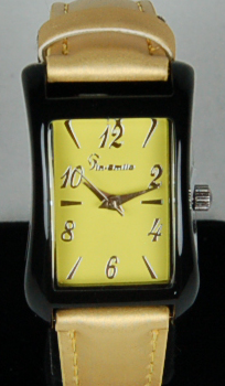 Ladies Stainless steel sports wristwatch authentic women's designers watch yellow