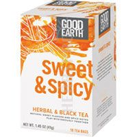 Good Earth Teas Sweet and Spicy Herbal and Black Tea 18 Bags