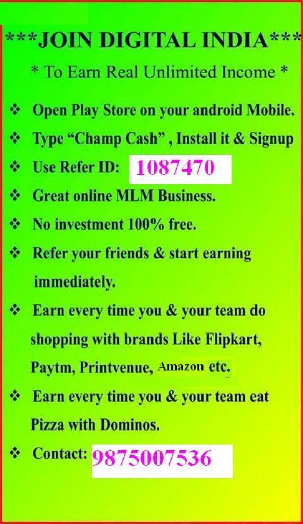 Free join 100% earning for android mobile users