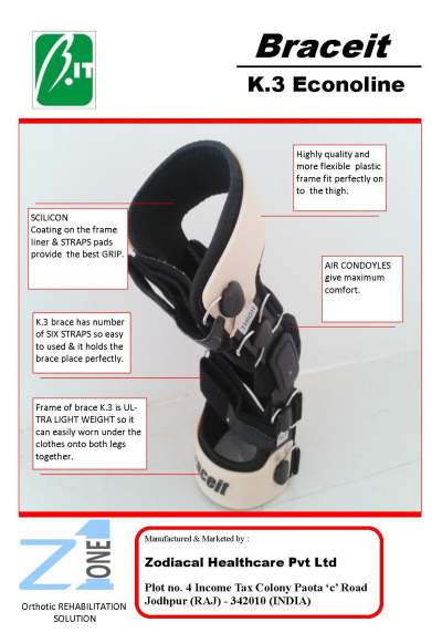 Knee brace for OA patient k.3