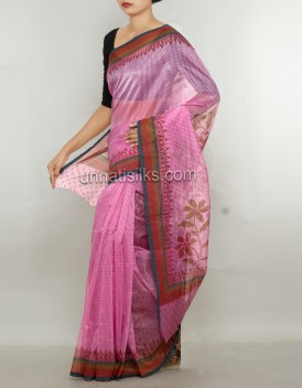 Online shopping for latest pink color saris by unnatisilks