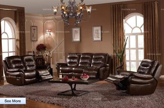 Modern Style Functional Top-layer Leather Sofa Set