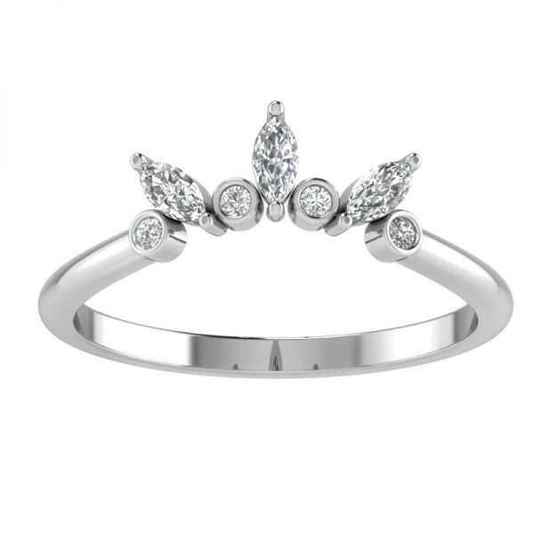 Buy Sunburst Alternating Tiara Wedding Band