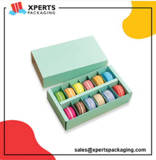 Get Custom Macaron Packaging Boxes with logo