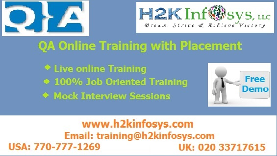 QA Testing Online Training And Placement