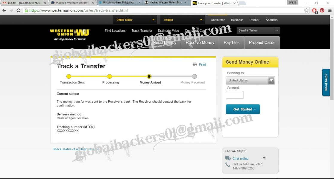 Instant western union transfer and paypal