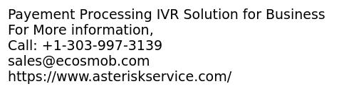 Payement Processing IVR Solution