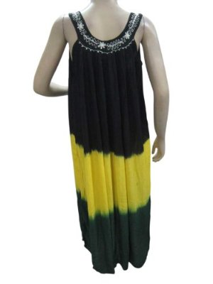 Bohemian Black & Yellow Tie Die Sleeveless Maxi Dresses  $28.00