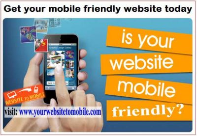 Get your mobile friendly website today
