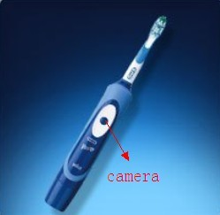 Bathroom spy Camera Toothbrush Hidden Camera DVR 16GB