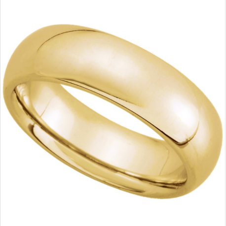 Buy 14K Yellow Gold Comfort Fit Plain Wedding Band