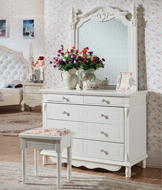 Country Style Hanfeier White Dresser