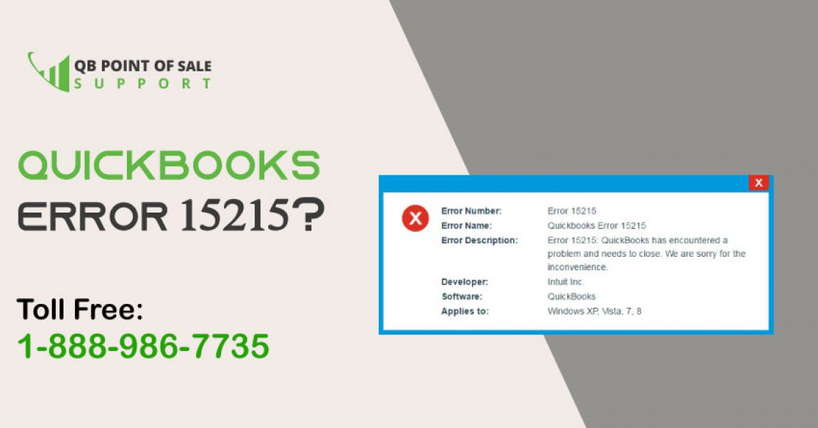 How to Fix QuickBooks Error 15215?| 1-888-9867735