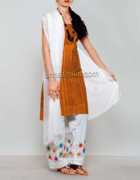 Online shopping for white mangalagiri cotton salwar kameez by unnatisilks