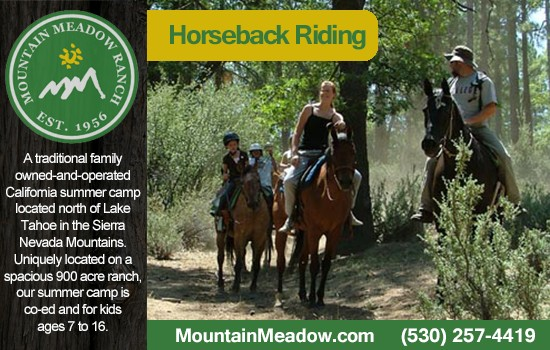 Horseback Riding Camps California (530) 257-4419