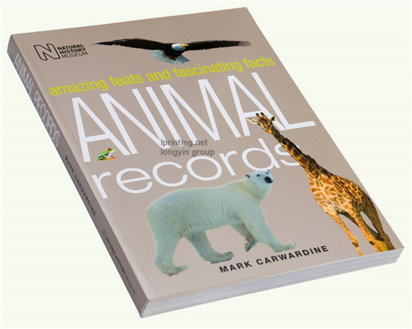 Animal paperback Printing,Softcover Book Printing Service