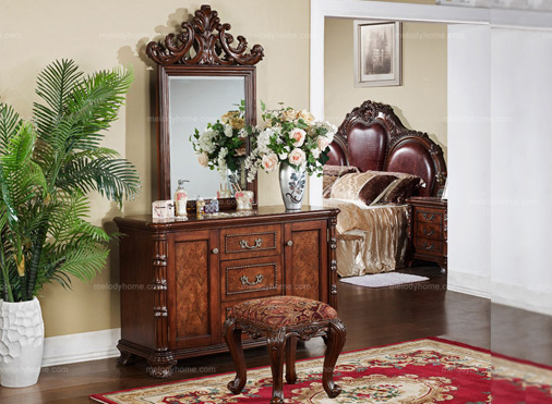 American Classical Style Densing• Meile Dresser and Mirror Set